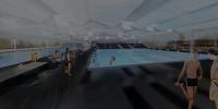 Schwimmhalle mit Wettkampfbecken (Caen, 2012)