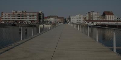 Passerelle piétonne et vélos Oude Dokken (Gand, 2012)