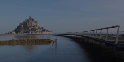 La Jetée du Mont Saint-Michel (Mont Saint-Michel, Normandie, 2014)